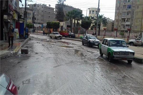 شوارع دمنهور غرقت فى مياه الأمطار