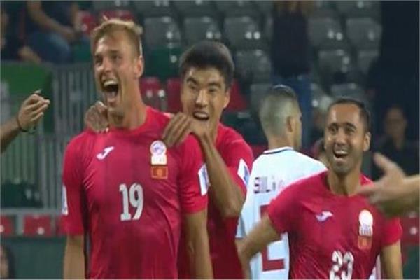 فرحة هدف لمنتخب قيرغستان