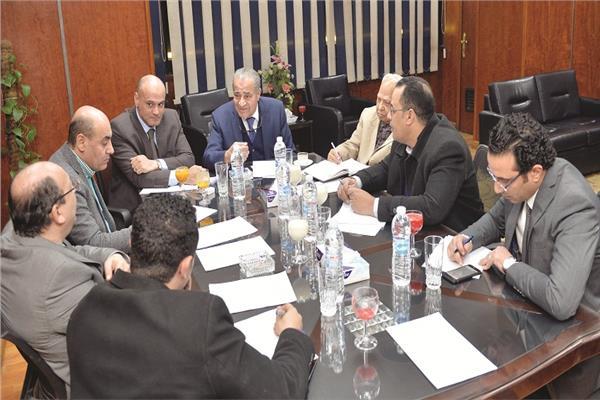 وزير التموين د.علي المصيلحي ورئيس تحرير الأخبار خالد ميري خلال الحوار