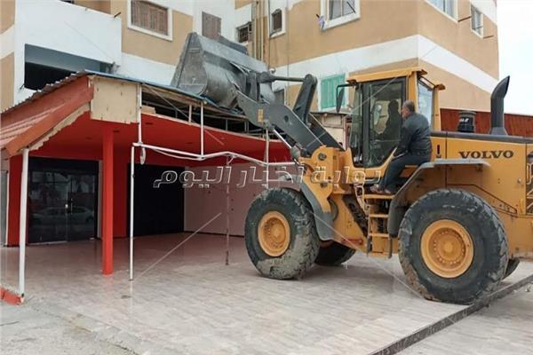 إزالة 74 مبنى مخالف في مدينة العريش بمحافظة شمال سيناء