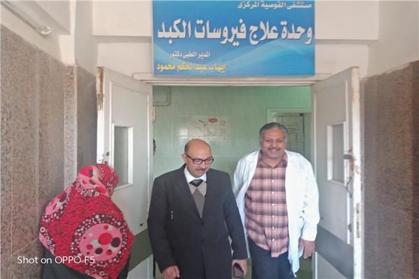 د. محمد زين وكيل صحة أسيوط خلال تنظيم