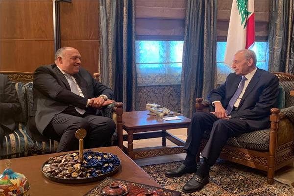 وزير الخارجية يلتقي رئيس مجلس النواب اللبناني في بيروت