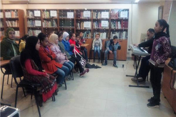 ورش غناء وموسيقى في مركز بهاء الدين