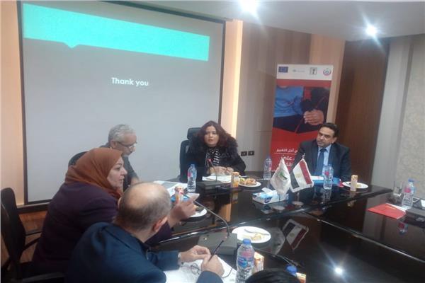 جانب من اجتماع د.عزة العشماوي مع الجهات المعنية بالمبادرة