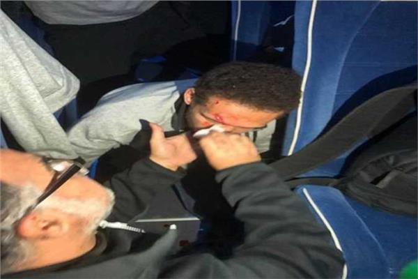 لحظة أصابة هشام محمد بتونس