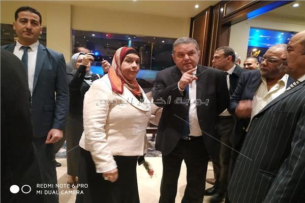 وزير قطاع الأعمال العام خلال افتتاحه فندق شهر زاد بالعجوزة