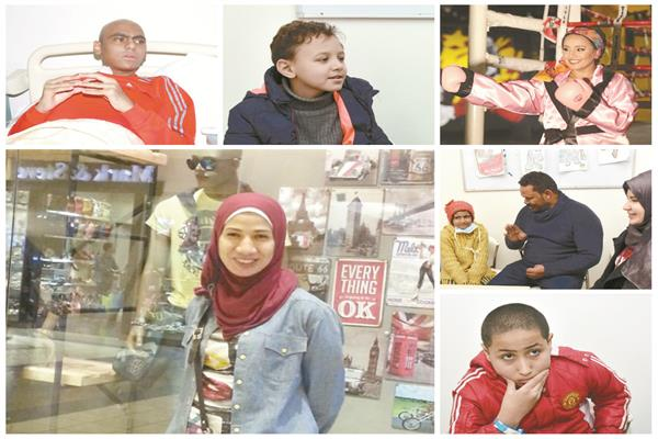 أبطال المعركة يروون رحلة المرض والعلاج - تصوير: علاء محمد على