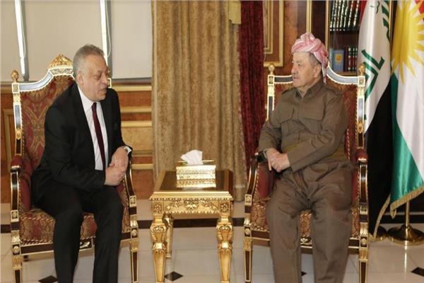 رزاني يستقبل القنصل العام المصرى لدى أربيل
