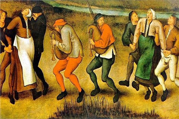 صورة زيتية توثق طاعون الرقص