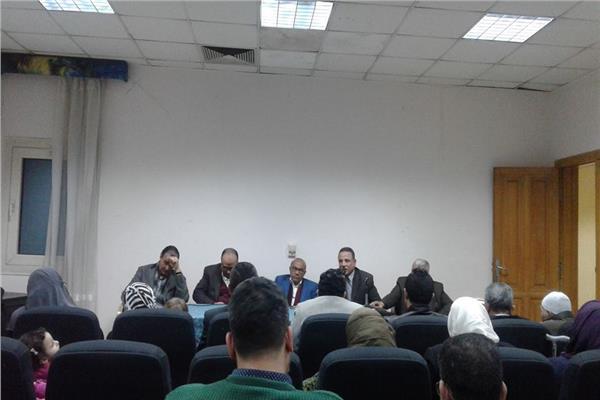 البهنساوي متحدثا خلال تأبين مصطفى بلال بنقابة الصحفيين