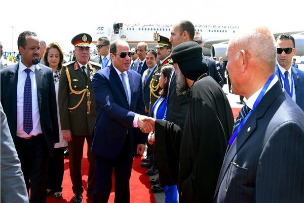 الرئيس السيسي فور وصوله إثوبيا