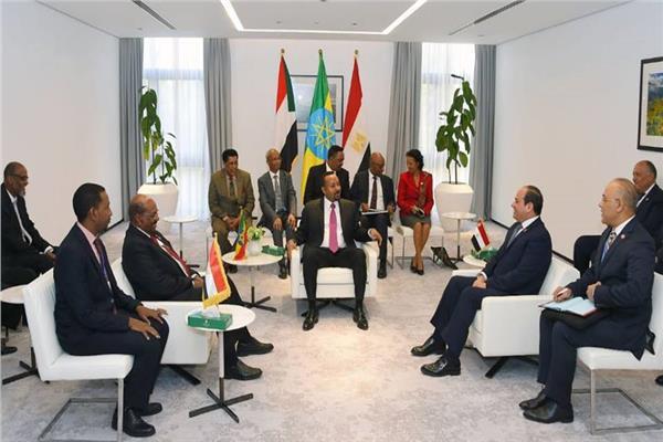 جانب من القمة الثلاثية بين مصر وأثيوبيا والسودان