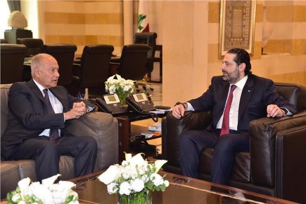 أبو الغيط يبحث مع رئيس الوزراء اللبنانى تطورات المنطقة
