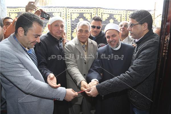 محافظ المنوفية يفتتح مسجد سيدى منسى بقرية لبيشة بمركز أشمون