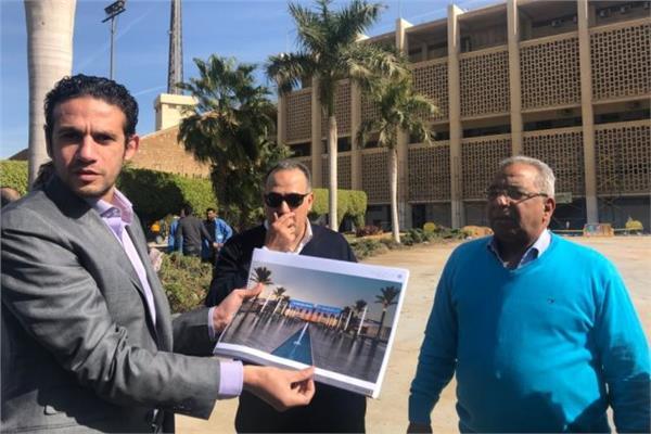 محمد فضل في زيارة لاستاد القاهرة
