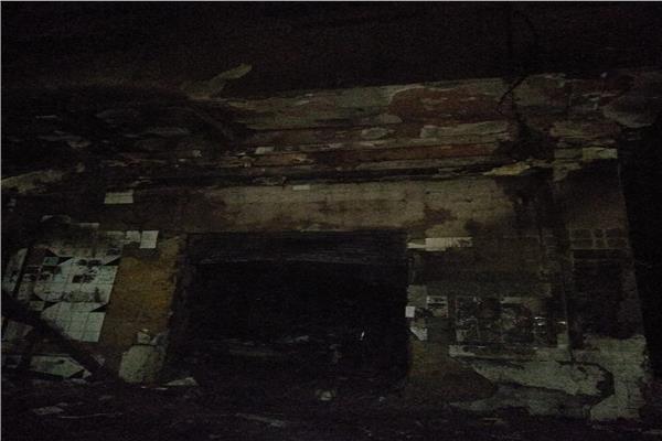 مكان الحريق بعد السيطرة عليه