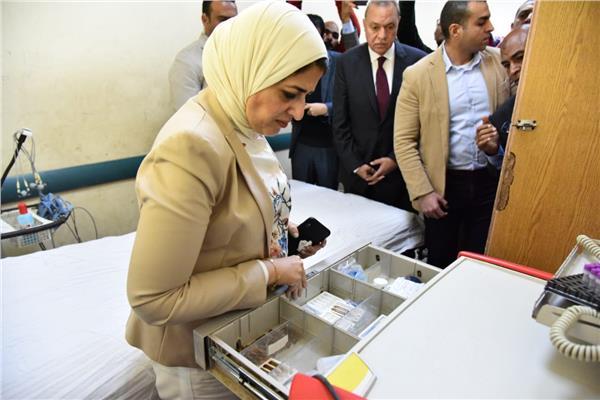 وزيرة الصحة تبدي استيائها من الخدمة الطبية في مستشفى قفط
