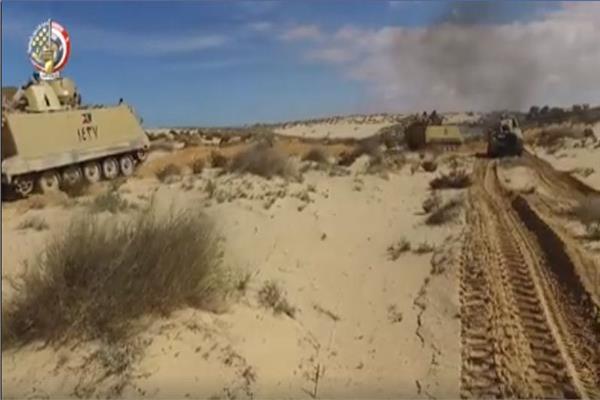 المتحدث العسكري: استهداف 7 بؤر ارهابية في شمال سيناء