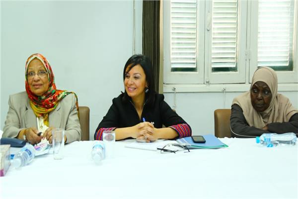 مايا مرسي تلتقي بأعضاء فرع المجلس بأسوان
