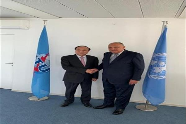 وزير الخارجية يلتقى في جنيف السكرتير العام الاتحاد الدولي للاتصالات