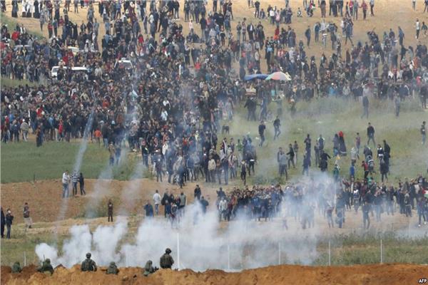 صورة أرشيفية من احتجاجات غزة