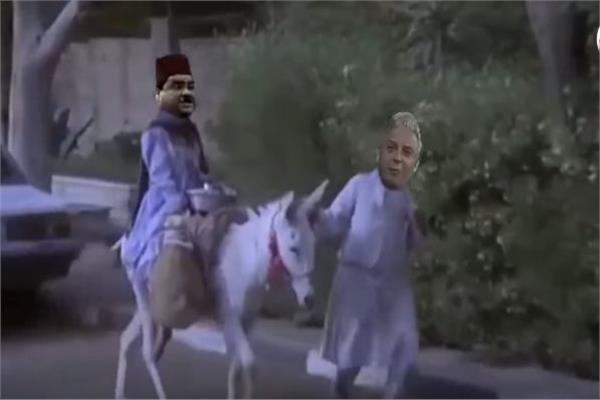صفارة و جلابية وحمار شعار معتز مطر على السوشيال ميديا