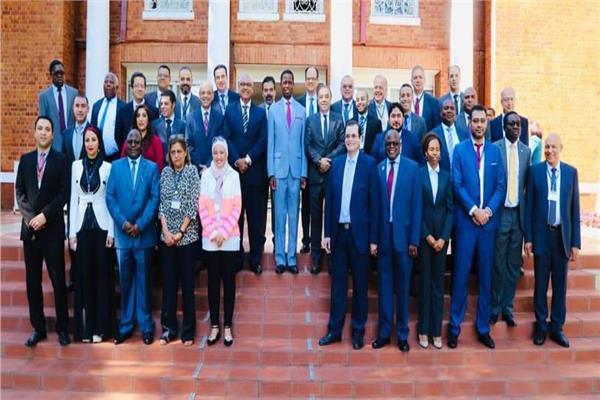 رئيس زامبيا خلال استقباله وفد إتحاد الصناعات المصرية