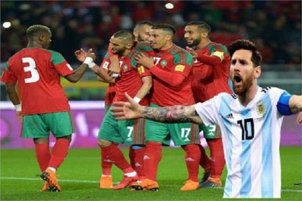 ميسي ومنتخب المغرب