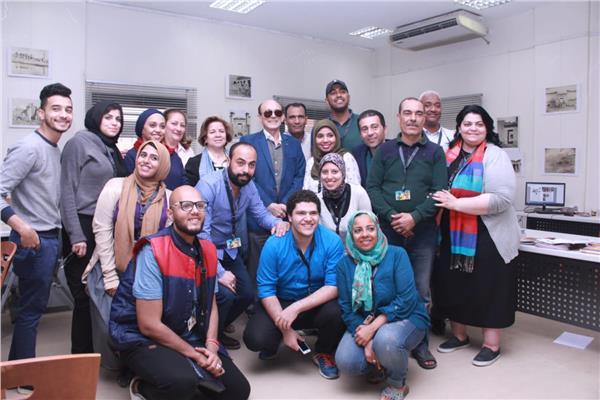 صور.. محمد صبحي في زيارة لمقر مهرجان الاقصر للسينما الافريقية