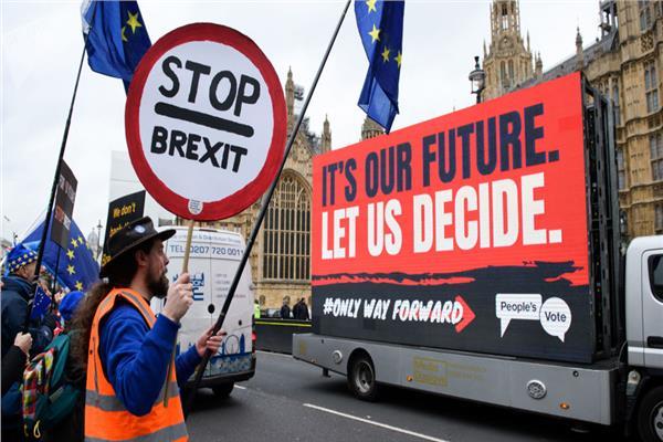 تظاهرات في لندن ضد الانفصال عن الاتحاد الاوروبي