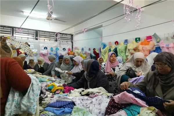 وكيل وزارة التضامن اسيوط تفتتح معرض الاسر المنتجة بالجمعية النسائية باسيوط