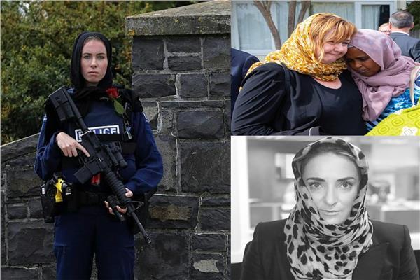 نيوزيلندا تتضامن مع شهداء المسجدين في صلاة الجمعة بالحجاب