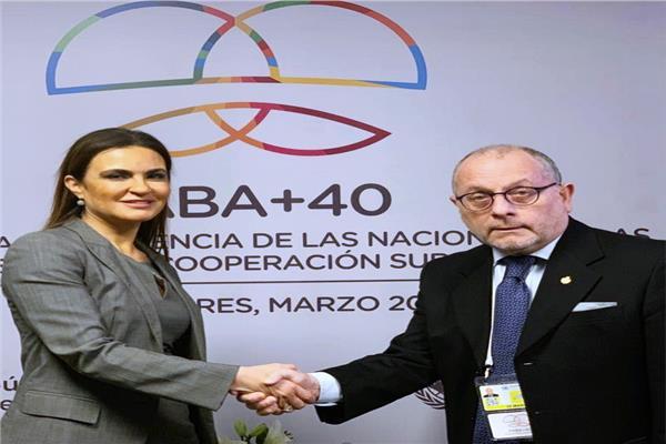 وزيرة الاستثمار والتعاون الدولي د. سحر نصر تلتقي وزير خارجية الأرجنتين