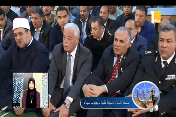 شعائر صلاة الجمعة بمسجد السلام بمدينة طابا جنوب سيناء