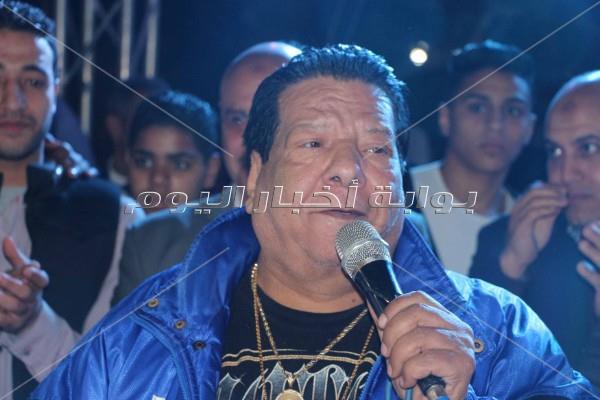 شعبان عبد الرحيم خلال الحفل