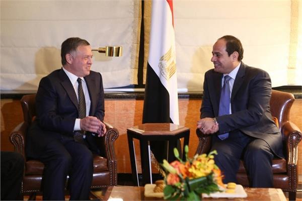 الرئيس عبدالفتاح السيسي والملك عبدالله