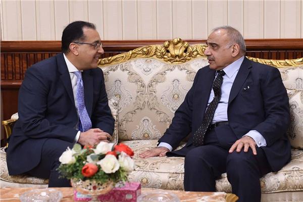 د.مصطفى مدبولي ورئيس الوزراء العراقي
