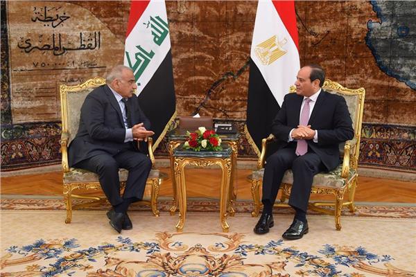 الرئيس السيسي يستقبل رئيس وزراء العراق