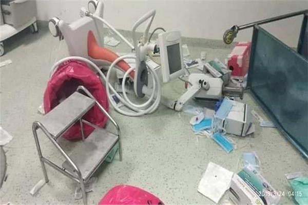 بعض الخسائر الناتجة عن التعدي على معهد القلب