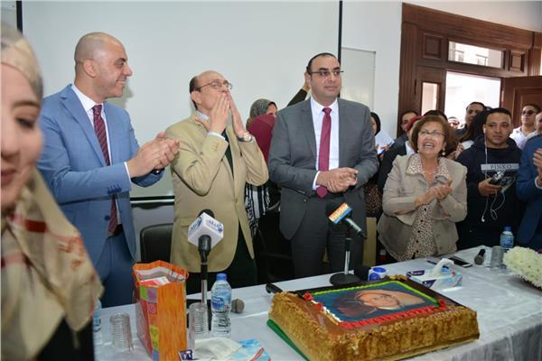 تكريم محمد صبحي في إحتفالية عيد ميلاده بالأكاديمية البحرية