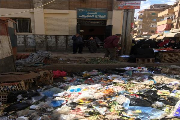 البيئة: رفع تراكم مخلفات من أمام مستشفى ميت غمر بالدقهلية