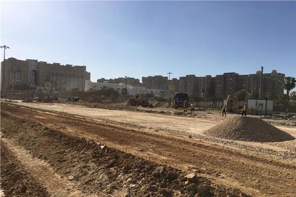 تطوير محيط استاد القاهرة الدولي
