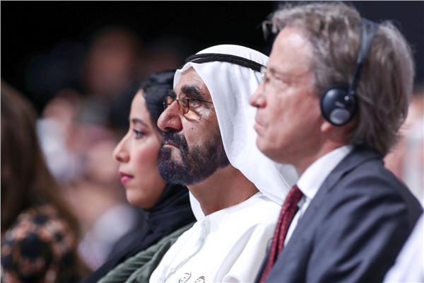الشيخ محمد بن راشد آل مكتوم خلال منتدى الإعلام العربي
