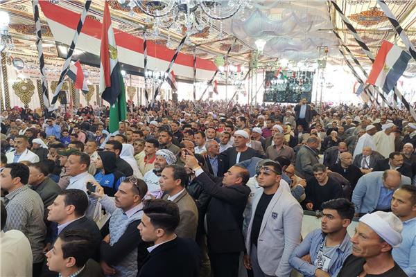 رموز القبائل العربية وكبار العائلات يؤيدون التعديلات الدستورية فى مؤتمر جماهيرى بالشرقية