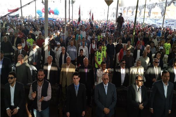مؤتمر جماهيرى حاشد بمركز بلبيس بالشرقية لدعم التعديلات الدستورية