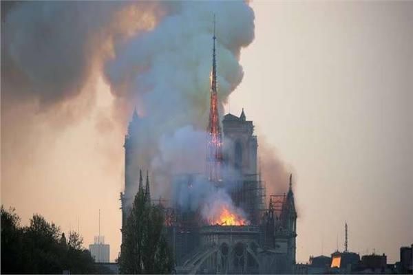 حريق كاتدرائية نوتردام في باريس
