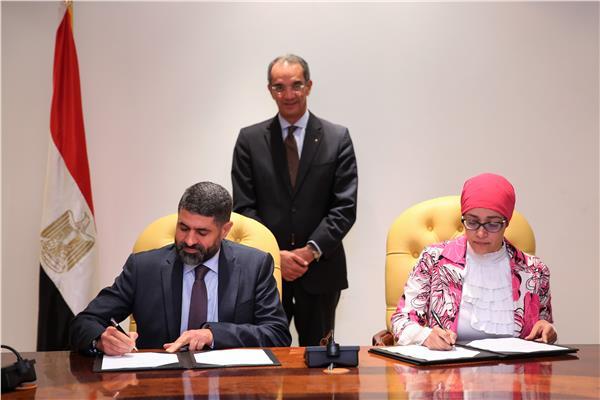 وزير الاتصالات يشهد توقيع مذكرة التفاهم