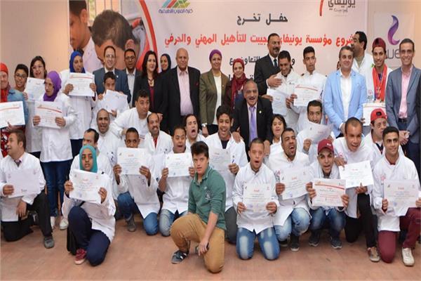 المصرية للاتصالات تحتفل بتخريج دفعة من مشروع التأهيل المهني والحرفي