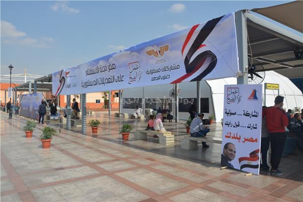 بالصور مطار القاهرة يستعد للإستفتاء على التعديلات الدستورية