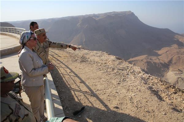 وزيرة البيئة من العين السخنة: هضبة الجلالة إنجاز مصري بمقاييس عالمية